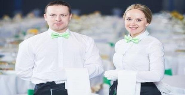 Londra'da Restoranda Çalışacak Bay Bayan Garsonlar