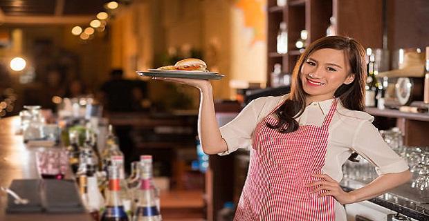Cafe'de Çalışacak Bayan Garson Aranıyor