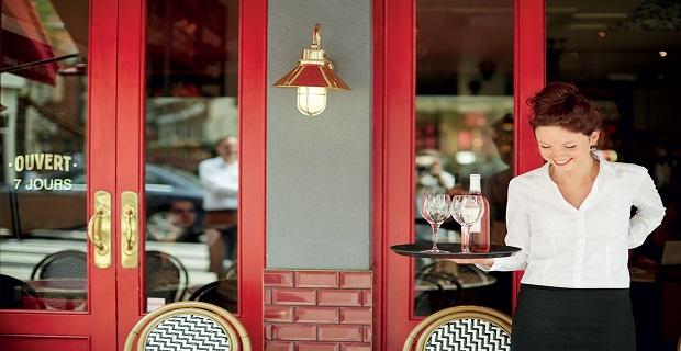Borehamwood'da Cafe'ye Bayan Garson