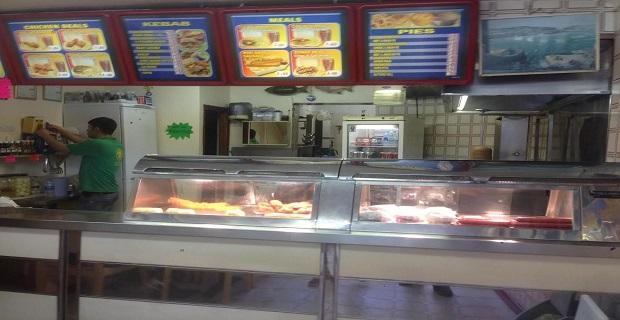 South Croydon Highstreet Bölgesinde Satılık Fish and Chips