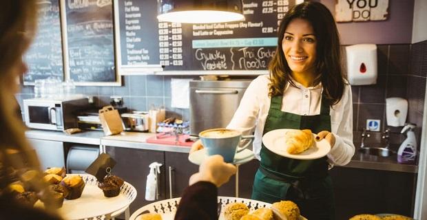 Willesden Green'de Coffee Shop'a Elemanlar