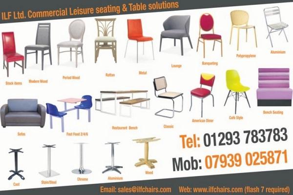 ILF Ltd. Londra'da Restaurant ve İşyerleri İçin Masa ve Sandalye