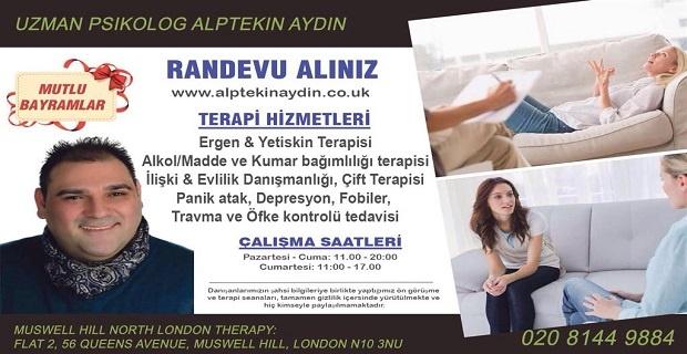 Londra'da Uzman Psikolog Alptekin Aydın