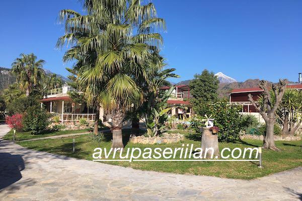 Olimpos Çıralı Antalya deniz tarih doğa manzaralı satılık havuzlu ev arazi