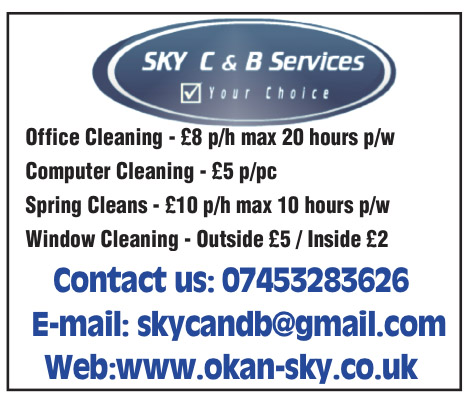 sky cleaning and bookkepping service London