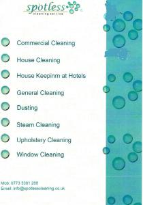 Spotless Cleaning Service  Commercial Cleaning London