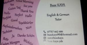 İngilizce ve Almanca Özel Ders Verilir