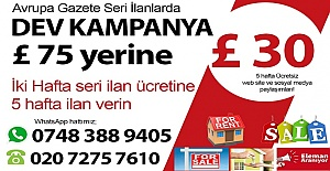 Avrupa Gazete seri ilanlarda dev kampanya!