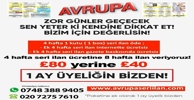 Avrupa Gazete'den Kaçırılmayacak Kampanya!