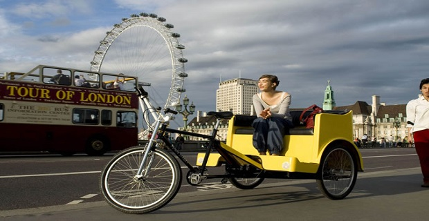 Londra'da Ozzy Pedicab and Delivery