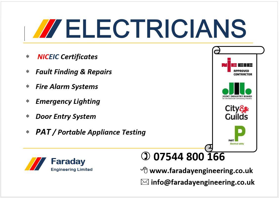 Elektrikçi Londra'da her türlü Elektrik işleriniz yapılır